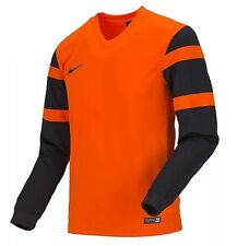 NIKE Youth Dri-Fit Soccer Trophy 2 Jersey L/S Orange Shirts Junior 588429-815