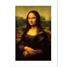 Canvas Painted Oil Painting Wall Mona Lisa Smile deco no frame 4 sizes