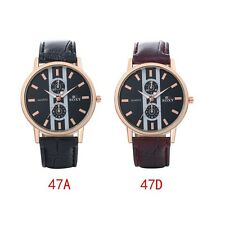 Men's Business PU Band Automatic Electric Wrist Watch Fashion Stainless Steel