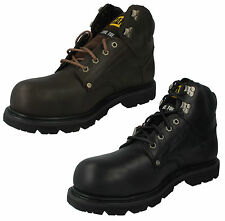 MENS CATERPILLAR GROUSER ST STEEL TOE LACE UP LEATHER SAFETY ANKLE WORK BOOTS