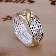 New wholesale Women Ring fashion Jewelry 925 sterling silver plated Size 6-10 c