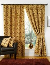 Tapestry Floral Beige Ready Made Fully Lined Tape Curtains