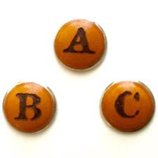 Leather Initial Charms for Leather Bracelets by Linx and More Buttoonz