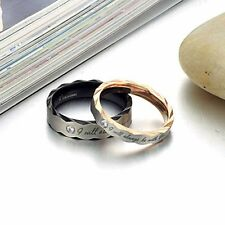 Fashion Nice Titanium Steel Couple Wedding Band Lover's Engagement Promise Ring