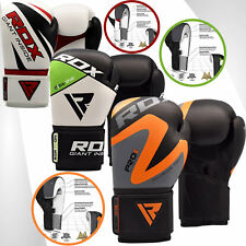 RDX Boxing Gloves Leather Training Pro Glove Red
