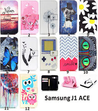 Flip Stand Cute Card Holder Wallet Leather Case Cover For Samsung Galaxy J1 Ace