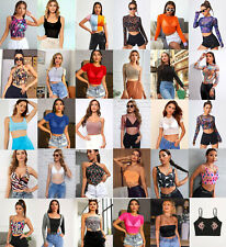New Wholesale Lot 50 Pieces Mixed Tops Women Blouses Tank Shirts Shorts Bottoms