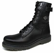 Mens Harley Davidson® Adams Leather Blk Lace-Up Zip Motorcycle Boots $195 Size