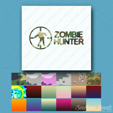 Zombie Hunter Crosshairs - Decal Sticker - Multiple Patterns & Sizes - ebn768