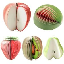 Notepad Memo Sticky Apple Shape Fruit Note Pads Portable Scratch Paper Notepads