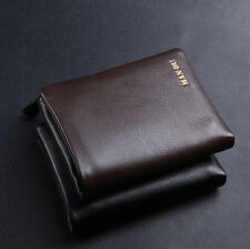 2015 Luxury MensWallet Genuine Cow Soft  leather Detachable Bifold Zipper Wallet