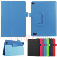Luxury Leather New Case Skin Stand Cover For Amazon Kindle Fire HD 7 2015 Tablet