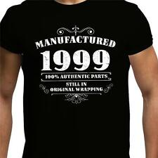 GIFT BOXED Manufactured 1999 Vintage Retro Mens 18th Birthday Present T Shirt