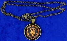 WOW Alliance Emblem Necklace Cabochon Style World of Warcraft Game Inspired