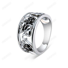 Women Austrian Crystal Elephant Band Ring 18k White Gold Plated Jewelry SZ 6-9