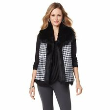 """Antthony Original """"Ayianna"""" Reversible Faux Fur Vest 358740 MSRP$69 CLEARANCE$45"""