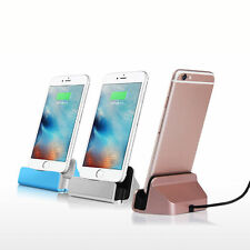 Desktop Charger Dock Data & Sync Charging Cradle Cable for iPhone 5 5S 6 6S Plus