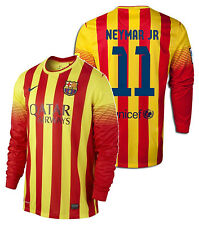NIKE FC BARCELONA NEYMAR JR. LONG SLEEVE AWAY JERSEY 2013/14