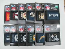 NFL Official Licensed Trifold Nylon Velcro Wallets All Teams Wallet