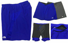 """NEW TNF The North Face Gray Blue Stretch Light Weight 7"""" Running Shorts XL"""
