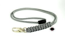 black/white paracord lanyard - 550 paracord break away buckle - handmade USA