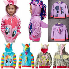 "Girls Kids Toddler Hoodie ""My Little Pony"" Wing Cute Sweatshirt Coat Zip Jacket"