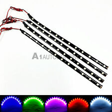"4x NEW High Power 12"" 30cm Flexible LED Strips Footwell Interior Underdash Light"
