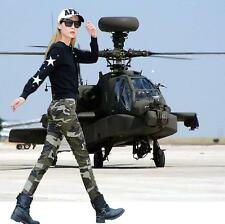 Stylish Camouflage Military Outfit Womens Pant Slim Fit Outwear Casual Trousers