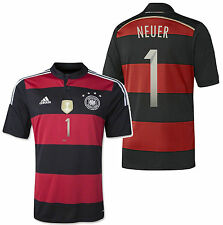 ADIDAS MANUEL NEUER GERMANY 4 STAR AWAY JERSEY FIFA WORLD CUP 2014 CHAMPION