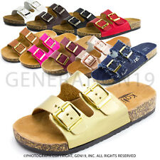 New Womens Open Toe Buckle Strap Slip on Sandals Eagle (Adults 6 7 8 9 10 11)