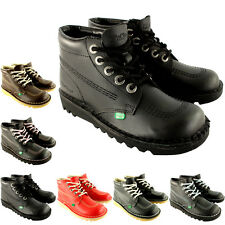 Unisex Kids Youth Kickers Kick Hi Back To School Leather Boots Shoes UK 3-6