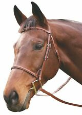 HDR Adv Plain Raised Snaffle Bridle With Laced Reins @ Queenside Tack