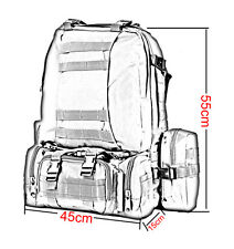 30L Military  Molle Tactical Backpack Rucksack Camping Hiking Trekking Bag Top