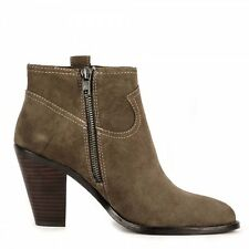 ASH IVANA CHESTNUT SUEDE ANKLE BOOTS size 40 RP £179