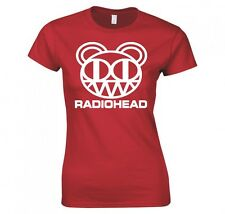 "RADIOHEAD ""BEAR HEAD LOGO"" LADIES SKINNY FIT T-SHIRT"