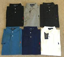 NWT Polo Ralph Lauren Men's Custom Fit Long Sleeve Mesh Polo shirt