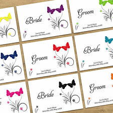 Personalised Wedding Table Guest Name Place Cards - Butterfly With 12 Colours
