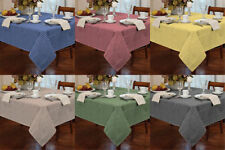 Tablecloth Traditional Gingham Check Round Square Oblong Kitchen Table Protector