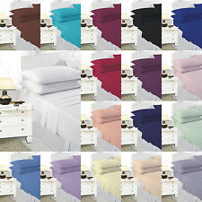 Plain Dyed Bedding Set Include Duvet Cover & Pillow Cases,QuiltCover All Uk Size