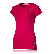 Puma Fitted Womens Pink Running Lightweight Short Sleeve T Shirt Tee Top