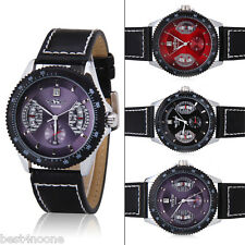 Swiss Design New Mens Automatic Mechanical Black Man Leather Wrist Watch Gifts