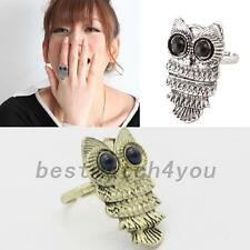 Adjustable Antique Owl Sizable Finger Ring Animal Jewelry Accessory Present Cute
