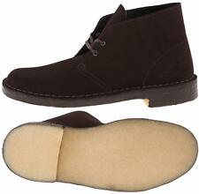 CLARKS ORIGINALS DESERT BOOT 36192 BROWN SUEDE - CREPE SOLE - CASUAL DRESS BOOTS