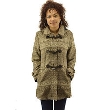 Women's Ladies High Quality Aztec Striped Coat Jacket Duffle