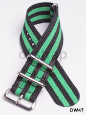 3black-2green Nylon Watch band watch strap Band Width(18-24)mm 4size available