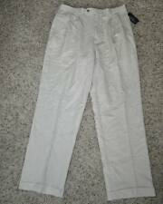 NWT $70-Mens Chaps Stone Beige Pleated Suit Seperates Dress Pants-sz 32, 38 & 40