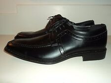new Joseph Abboud Black Leather Lace Up Split Toe Dress Shoes sz 10.5, 11, 11.5
