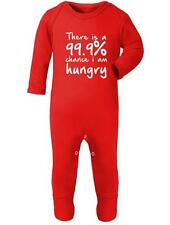 Baby Romper '99.9% chance I am hungry ' Fun - Food Baby Romper Suit / Sleep Suit