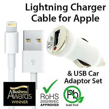 Genuine USB Car Adaptor & Sync Charger Cable for Apple iPhones 7 6 5 SE iPad 4