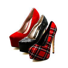 Womens mega platform killer high heel court shoes
